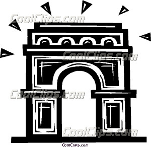 Arc de Triomphe - Vector Clip Art - CoolCLIPS.