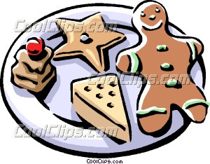 plate of christmas cookies with gingerbread man clip art rh dir coolclips com