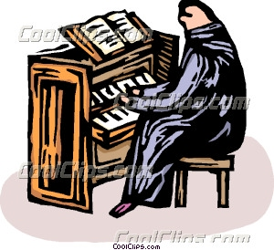 Person playing the church organ Clip Art