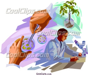 Biology scientist working with plants biology