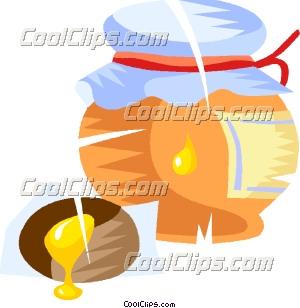 蜂蜜罐 免版税矢量剪贴画插图
