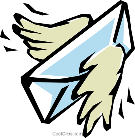 Air mail Royalty Free Vector Clip Art illustration busi0546