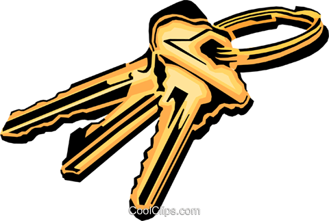 Keys Royalty Free Vector Clip Art illustration busi0608
