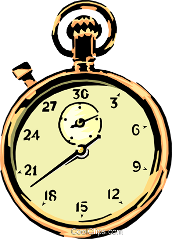 Pocket watch Royalty Free Vector Clip Art illustration busi0610