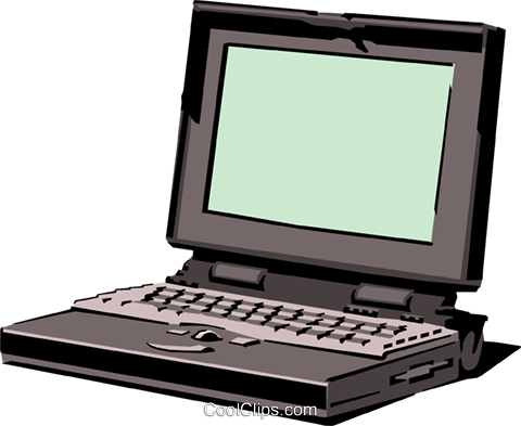 Laptop computer Royalty Free Vector Clip Art illustration busi0613