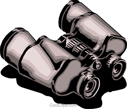 Binoculars Royalty Free Vector Clip Art illustration hous0669