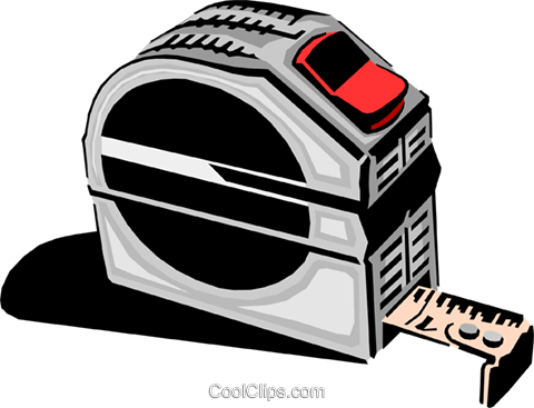 Tape measure Royalty Free Vector Clip Art illustration indu0560