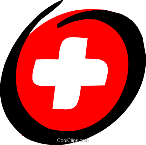 Medical first-aid kit Royalty Free Vector Clip Art illustration medi0243