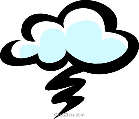 Clouds and rain Royalty Free Vector Clip Art illustration natu0422