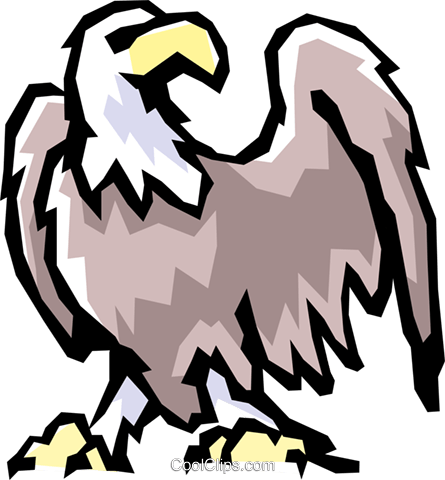 Bald eagle Royalty Free Vector Clip Art illustration anim0821