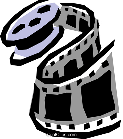 Film rolls Royalty Free Vector Clip Art illustration arts0194