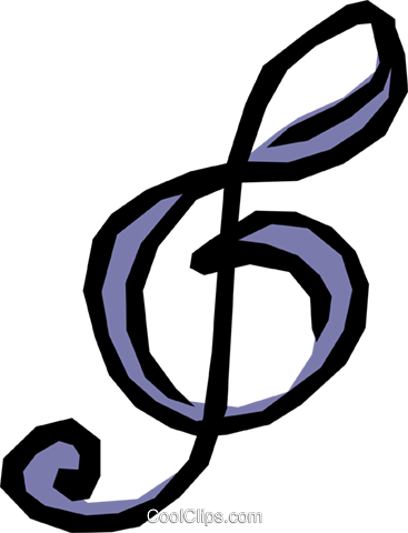 Treble clef Royalty Free Vector Clip Art illustration arts0197