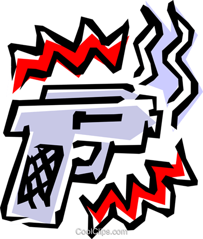Revolver Royalty Free Vector Clip Art illustration busi0550