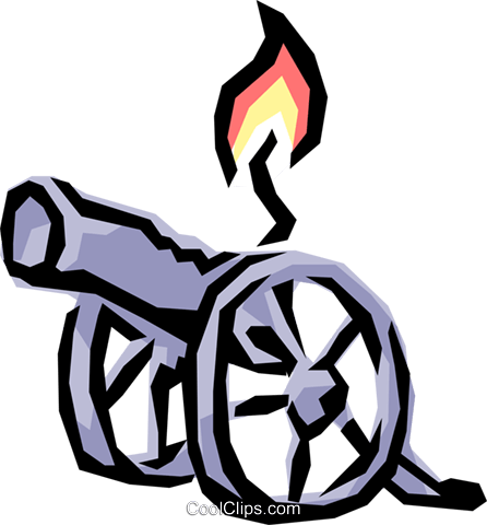 Cannons Royalty Free Vector Clip Art illustration busi0552