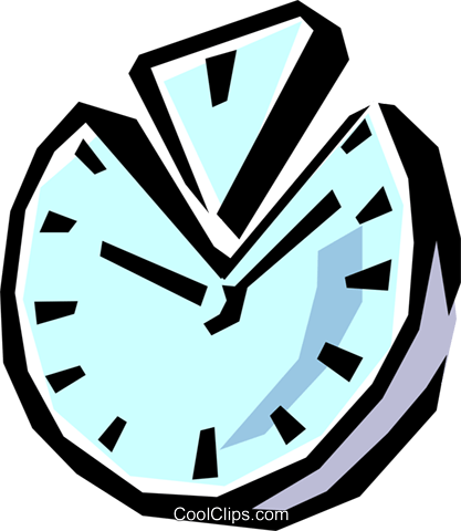 Clock Royalty Free Vector Clip Art illustration busi0560