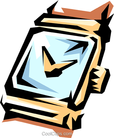 Wristwatches Royalty Free Vector Clip Art illustration busi0561