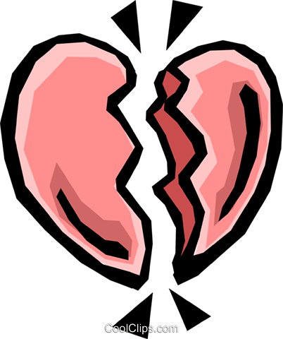 Broken heart Royalty Free Vector Clip Art illustration even0325