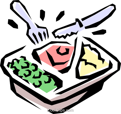 TV dinner Royalty Free Vector Clip Art illustration food0480