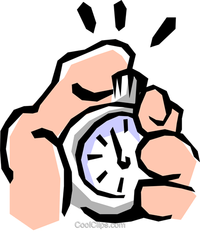 Stopwatches Royalty Free Vector Clip Art illustration hand0191