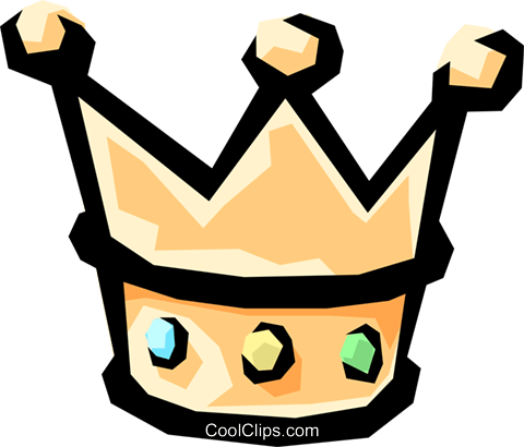 King's crown Royalty Free Vector Clip Art illustration hous0555