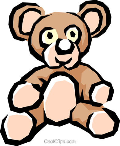 Teddy bear Royalty Free Vector Clip Art illustration hous0568