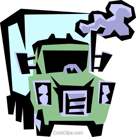 Transport truck Royalty Free Vector Clip Art illustration indu0504