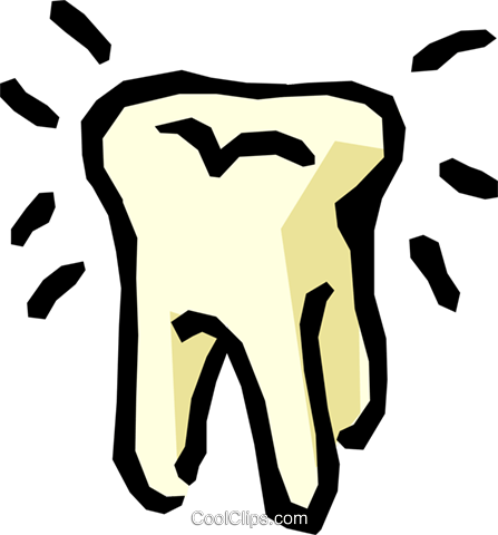 Molar tooth Royalty Free Vector Clip Art illustration medi0217