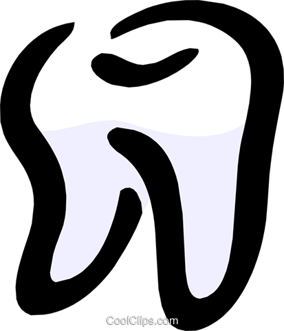 The Tooth Royalty Free Vector Clip Art illustration medi0244