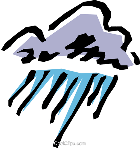 Clouds and rain Royalty Free Vector Clip Art illustration natu0337
