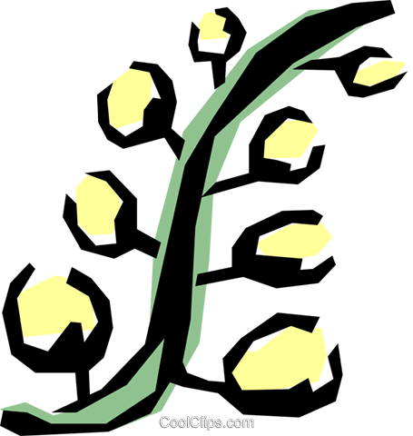 Plants Royalty Free Vector Clip Art illustration natu0346