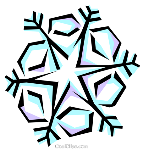 Snowflake designs Royalty Free Vector Clip Art illustration natu0352