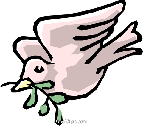 Peace dove Royalty Free Vector Clip Art illustration reli0081