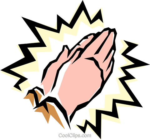 Praying hands Royalty Free Vector Clip Art illustration reli0084