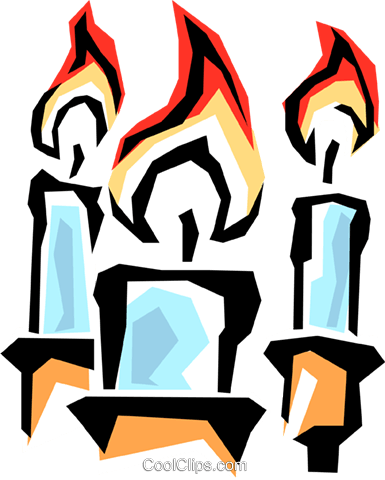 Candles Royalty Free Vector Clip Art illustration reli0086