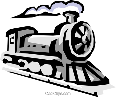 Locomotive Royalty Free Vector Clip Art illustration tran0383