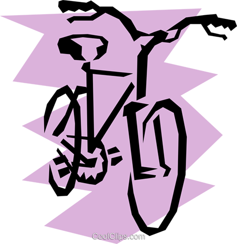 Bicycle Royalty Free Vector Clip Art illustration tran0389