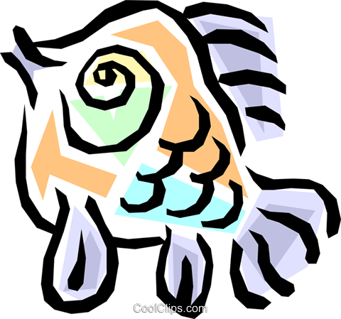 Fish Royalty Free Vector Clip Art illustration anim0833