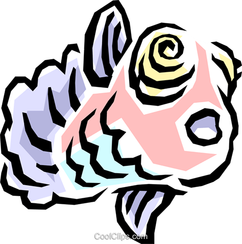 Fish Royalty Free Vector Clip Art illustration anim0834