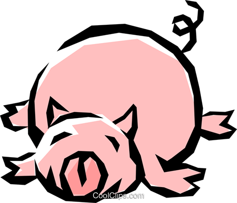 Pig Royalty Free Vector Clip Art illustration anim0837