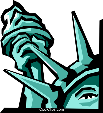 Statue of Liberty Royalty Free Vector Clip Art illustration arch0279