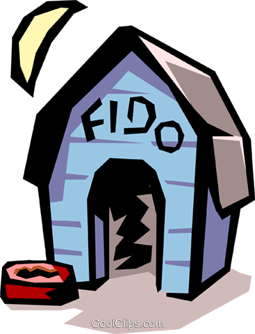 Doghouse Royalty Free Vector Clip Art illustration arch0280