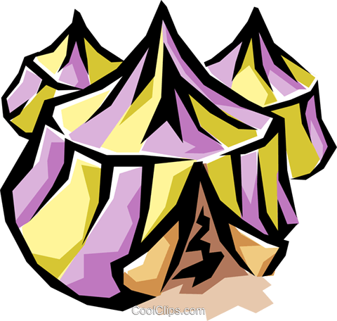 Tents Royalty Free Vector Clip Art illustration arch0283
