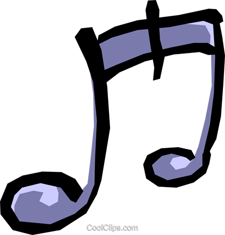 Musical notes Royalty Free Vector Clip Art illustration arts0203