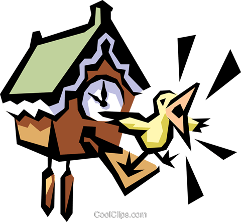 Cuckoo bird Royalty Free Vector Clip Art illustration busi0565