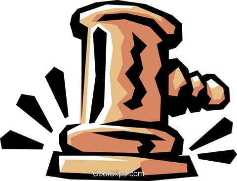 Judge's gavels Royalty Free Vector Clip Art illustration busi0569