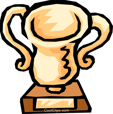 Trophy Royalty Free Vector Clip Art illustration busi0570