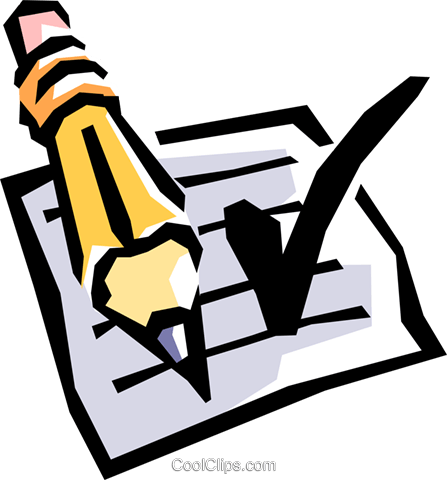 Checklist Royalty Free Vector Clip Art illustration busi0571