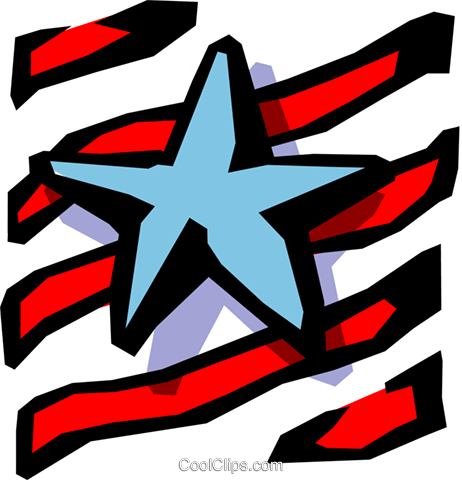 Stars and stripes Royalty Free Vector Clip Art illustration busi0579