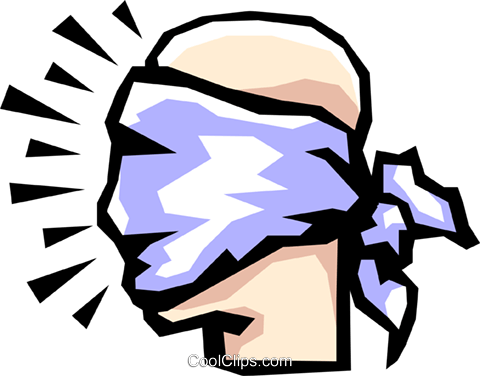 Blindfolds Royalty Free Vector Clip Art illustration cart1081