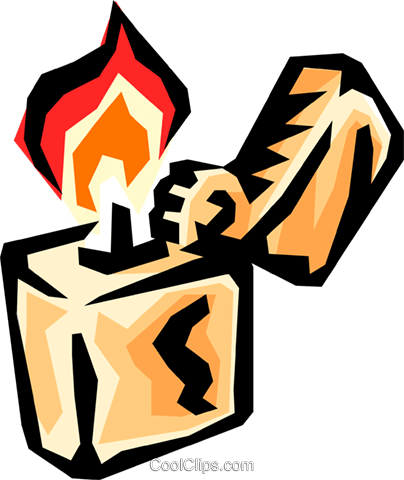 Cigarette lighter Royalty Free Vector Clip Art illustration envi0128